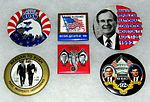 Vintage Presidential Campaign Buttons For George Herbert Walker Bush, 41st President Of The United States From 1989 to 1993 (23822130226).jpg