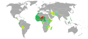 Visa requirements for Nigerien citizens - Image: Visa requirements for Nigerien citizens