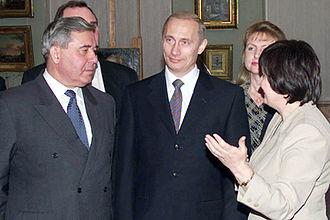 Leonid Polezhayev - Leonid Polezhayev with Vladimir Putin in 2001