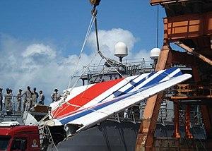 Brazilian frigate Constituição (F42) - Image: Voo Air France 447 2006 06 14