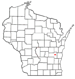 Location of Empire, Wisconsin