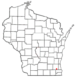 Location of Vernon, Wisconsin