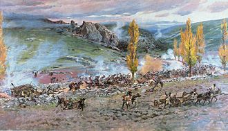 Battle of Somosierra - The Charge, part of an unfinished panorama of the battle by Wojciech Kossak and Michał Wywiórski