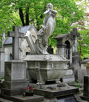 Powązki Cemetery - Example of lavish tombstones at the cemetery