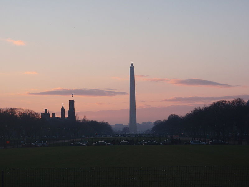 File:Washington Monument and Smithsonian Castle at Sunset Dec 2012.JPG