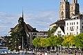 Wasserkirche - Limmatquai - Quaibrücke 2010-09-10 17-26-10.JPG