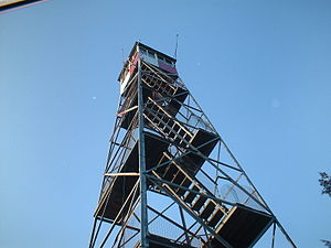 Sterling Mountain Fire Observation Tower and Observer's Cabin - Image: Way up there