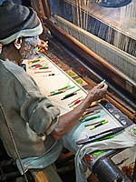 Weaving silk brocade (Varanasi).jpg