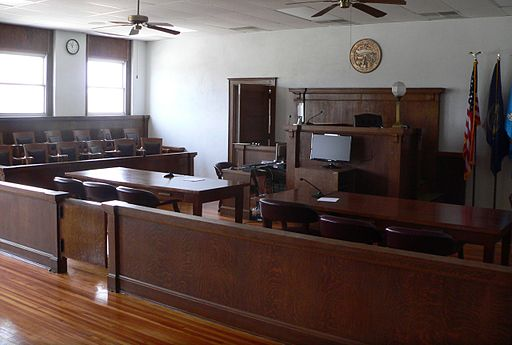 Webster County, Nebraska courthouse courtroom 2