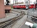 Weiche der Feldbahn im Deutschen Dampflokomotiv-Museum in Neuenmarkt, Oberfranken (14334668503).jpg