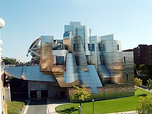 Weisman Art Museum - As viewed from the west, from the Washington Avenue Bridge