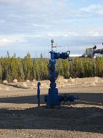 Christmas tree (oil well) - Image: Wellhead blue