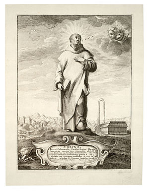 Gillis Backereel - Image: Wenceslas Hollar St Bruno (State 3)