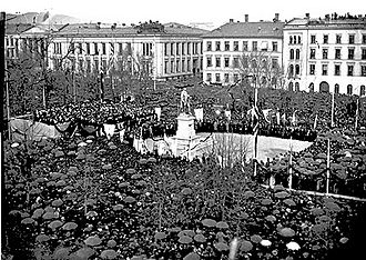 Eidsvolls plass - Unveiling ceremony in 1881
