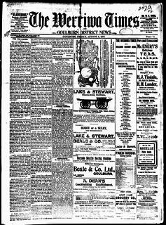 <i>Werriwa Times and Goulburn District News</i>