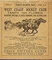 West Coast Jockey Club Racing Book Cover April 2 1926.jpg