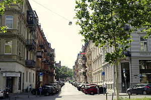 Wiesbaden-Westend - Street in Westend borough
