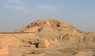 Ziggurat type of massive terraced structure built in ancient Mesopotamia