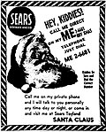 The advertisement that spurred the creation of NORAD Tracks Santa