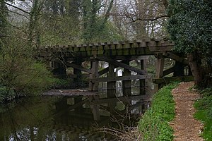 Witham to Maldon branch line - Wooden viaduct over the River Blackwater