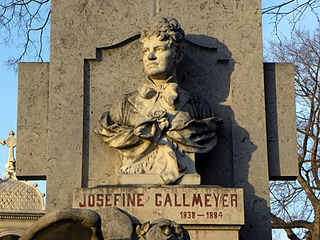Josefine Gallmeyer Austrian stage actor (1838-1884)