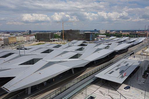 Wien Hbf. Von oben aus Süden