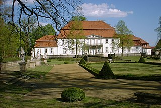 Künstlerhaus Schloss Wiepersdorf manor house in Landkreis Teltow-Fläming, Brandenburg, Germany
