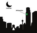 Wikipedian at night green.png