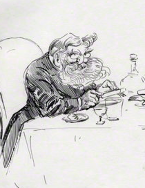 William Maw - A caricature of Maw by Harry Furniss
