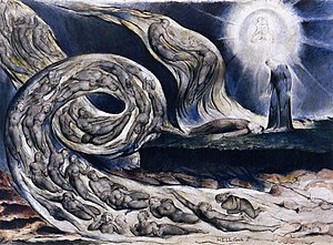 William Blake - The Lovers' Whirlwind, Frances...