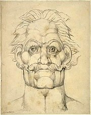 William Blake Visionary Head of Caractacus -contrast increased