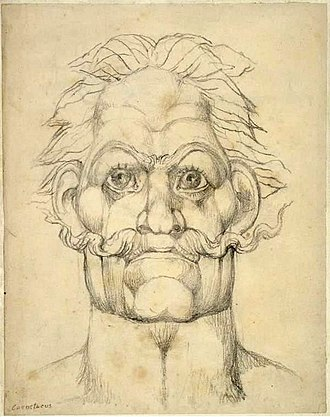 Caratacus - William Blake's vision of Caratacus from his series of illustrations called the Visionary Heads