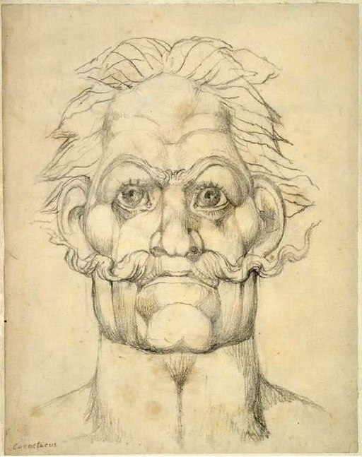 William Blake Visionary Head of Caractacus -contrast increased