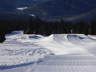 Terrain park - This terrain park begins with three jumps.
