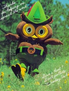 Woodsy Owl owl character of the U.S. Forest Service used in public awareness campaigns