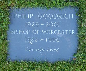 Philip Goodrich - Worcester Cathedral, grave of Bishop Philip Goodrich in the Cathedral Cloisters