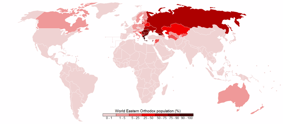 World Eastern Orthodox population