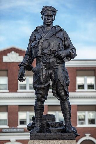 Pietro Montana - Minute Man (1927), World War I Memorial, East Providence, Rhode Island.
