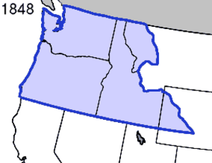 Oregon Territory - Oregon Territory, as originally organized, in 1848