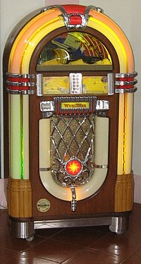 Pictures of 1950s Jukebox http://en.wikipedia.org/wiki/Jukebox