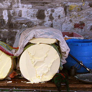 Yak butter - Yak butter for sale in Lhasa street market