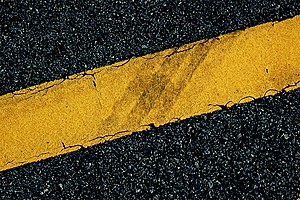 Road surface marking - Yellow line road marking