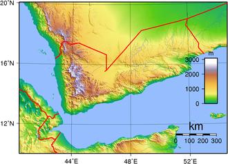 Energy in Yemen - Topography