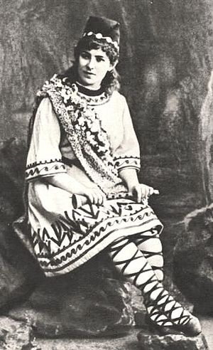 The Snow Maiden - Yevgeniya Zbruyeva as Lel at the Bolshoy Theatre, Moscow, in 1894)
