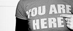 You are here - T-shirt