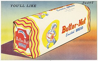 Old HB - Butter-Nut bread package, 1930-1945