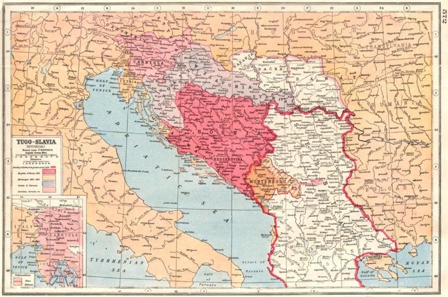Yugoslavia map 1920