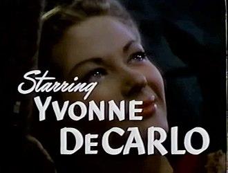 Yvonne De Carlo - De Carlo in the trailer for Song of Scheherazade (1947)