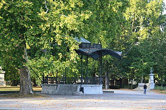 Platzspitz park - The gazebo in the Platzspitz Park