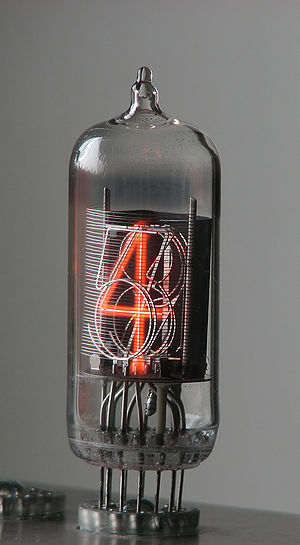 Nixie tube ZM1210 operating